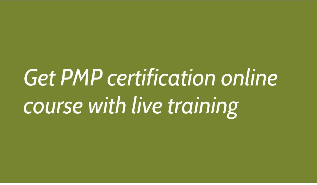 Get PMP certification online course with live training