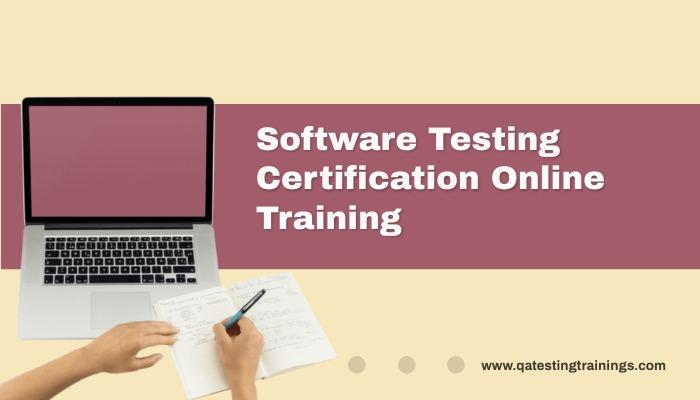 Software testing certification Online Training