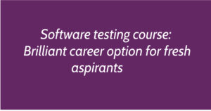 Software testing course: Brilliant career option for fresh aspirants