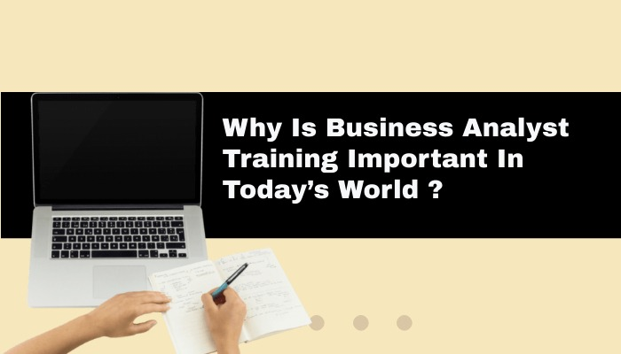 Why Is Business Analyst Training Important In Today's World ?
