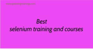 Best selenium training and courses
