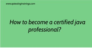 How to become a certified java professional?